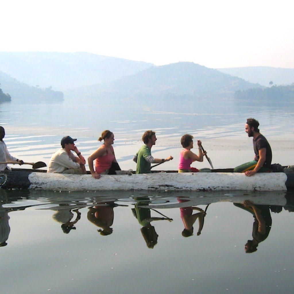 Canoe Trekking on Lake Bunyonyi