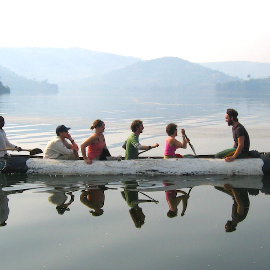 Canoesing at Lake Bunyonyi