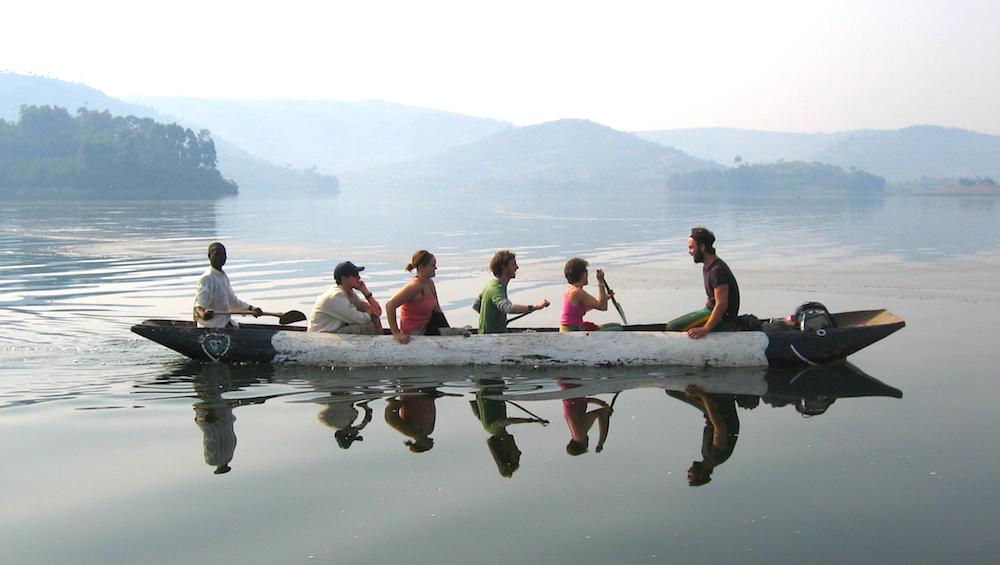 Canoesing at Lake Bunyonyi